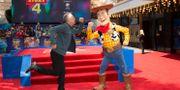 Tom Hanks under Europapremiären av Toy Story 4 i London tidigare i juni. Joel C Ryan / TT NYHETSBYRÅN
