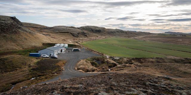 Climeons anläggning på Island.  Stina Stjernkvist/TT / TT NYHETSBYRÅN