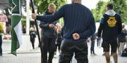 En nazist i Almedalen 2018.  Vilhelm Stokstad/TT / TT NYHETSBYRÅN