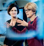 Moderaternas avgående partiledare Anna Kinberg Batra och Elisabeth Svantesson, integrationspolitisk talesperson. Lars Pehrson/SvD/TT / TT NYHETSBYRÅN
