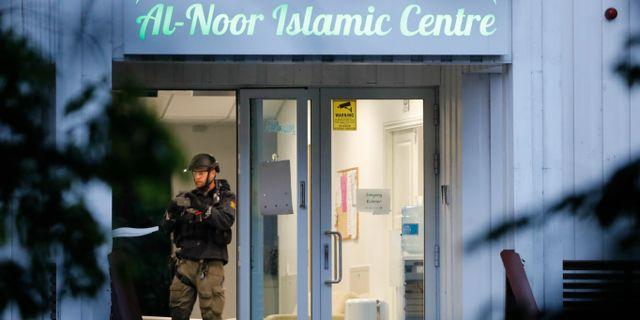 En av huvudingångarna till moskén. Terje Bendiksby / TT NYHETSBYRÅN