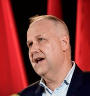 Jonas Sjöstedt höll sitt första maj-tal digitalt. Stina Stjernkvist/TT / TT NYHETSBYRÅN