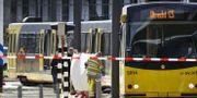 Den spårvagn där skottlossningen inträffade. ROBIN VAN LONKHUIJSEN / ANP