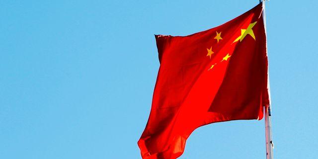 Kinas flagga. Larsen, Håkon Mosvold / TT NYHETSBYRÅN