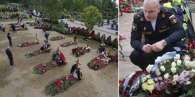 Begravningen för personerna ur den ryska flottan. TT
