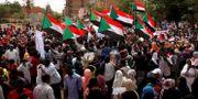 Protester i Sudan.  MOHAMED NURELDIN ABDALLAH / TT NYHETSBYRÅN