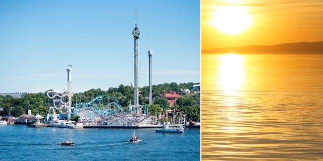 Stockholm och sjön Balaton söder om Budapest. TT