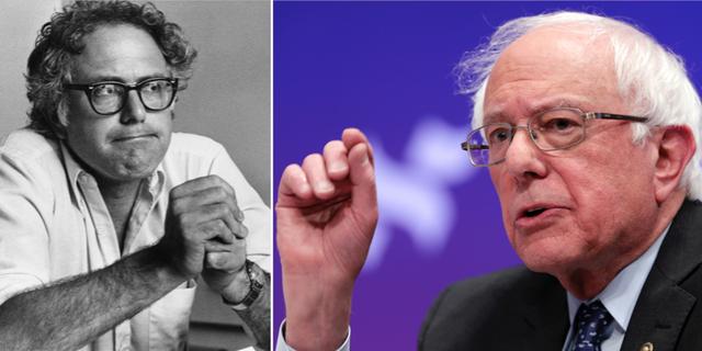 Bernie Sanders då och nu. TT