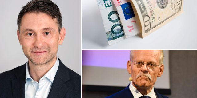 Andreas Wallström, riksbankschef Stefan Ingves. Swedbank/TT