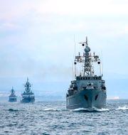Ryska fartyg på Svarta havet. Arkivbild.  TT NYHETSBYRÅN