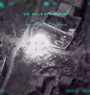 Turkiet har släppts bilder attacker mot mål i Syrien. HANDOUT / TT NYHETSBYRÅN