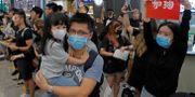 Pågående demonstrationer på flygplatsen i Hongkong. Kin Cheung / TT NYHETSBYRÅN/ NTB Scanpix