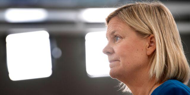 Sveriges finansminister Magdalena Andersson (S).  Jessica Gow/TT / TT NYHETSBYRÅN