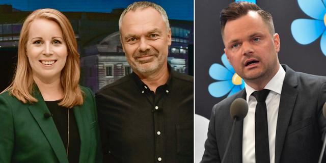 Annie Lööf (C) och Jan Björklund (L) har länge varit Alliansens svaga länk, enligt Adam Marttinen (SD). TT