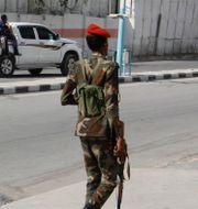 Arkivbild. Somalisk militär i Mogadishu.  Farah Abdi Warsameh / TT NYHETSBYRÅN