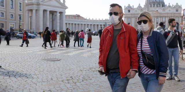 Turister i Vatikanstaten. Gregorio Borgia / TT NYHETSBYRÅN