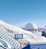 Illustrationsbild över Hammarbybacken i Stockholm.  Sveriges olympiska kommitté.