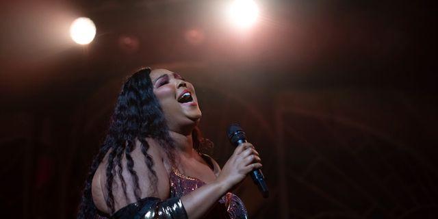 """Den amerikanska sångerskan Lizzo utnämndes till """"Entertainer of the year"""" av AP. Brent N. Clarke / TT NYHETSBYRÅN"""