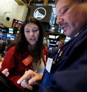 Arkivbild. Börsmäklare på Wall Street. Richard Drew / TT NYHETSBYRÅN