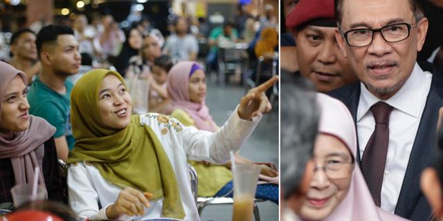 Invånare följde valet av Mahathir Mohamad förra veckan/Anwar Ibrahim. TT