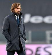 Andrea Pirlo under uppvärmningen inför mötet mellan Juventus och Verona Tano Pecoraro / TT NYHETSBYRÅN
