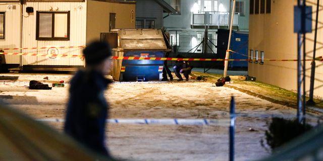 En person skadades allvarligt vid explosionen i Västra Frölunda i januari. Thomas Johansson/TT / TT NYHETSBYRÅN