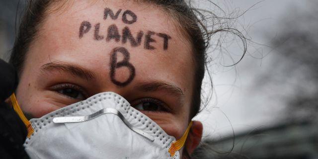 Protester i Belgien mot klimatförändringarna  Geert Vanden Wijngaert / TT NYHETSBYRÅN/ NTB Scanpix