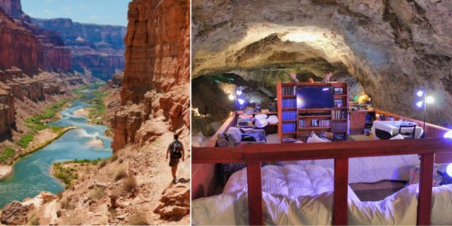 The Cavern Suite ligger 67 meter under marken i Grand Canyon. Istock / Tripadvisor