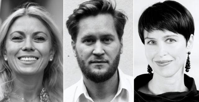 Karin Bäcklund, Erik Modig och Frida Blom.