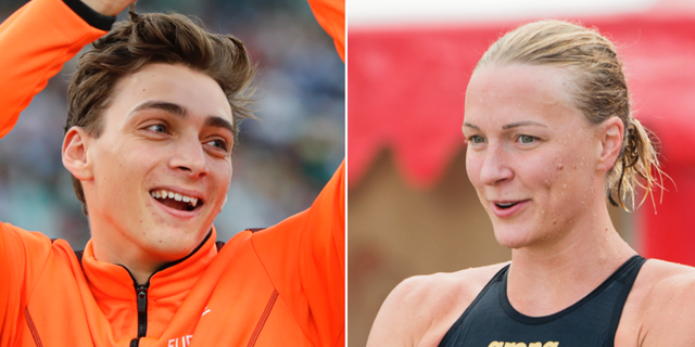 Armand Duplantis och Sarah Sjöström.  TT