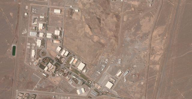 Satellitbild över anläggning i Natanz, Iran.  Planet Labs Inc. / TT NYHETSBYRÅN