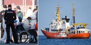 Flyktingar ombord på Aquarius kunde i morse gå i land i Spanien TT