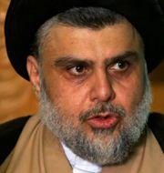 Shiapredikanten Moqtada al-Sadr. Alaa Al-Marjani / TT NYHETSBYRÅN