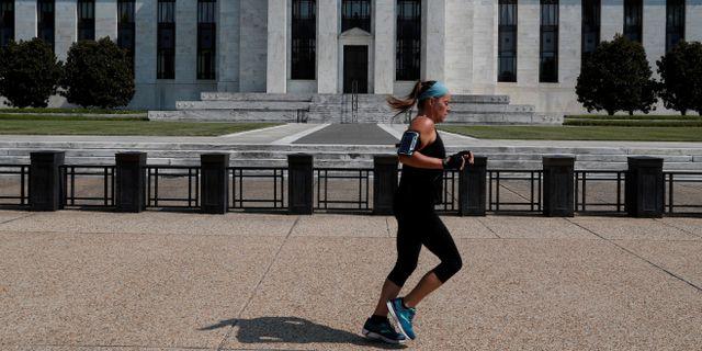 Arkivbild: Federal Reserve-byggnaden i Washington DC. Leah Millis / TT NYHETSBYRÅN