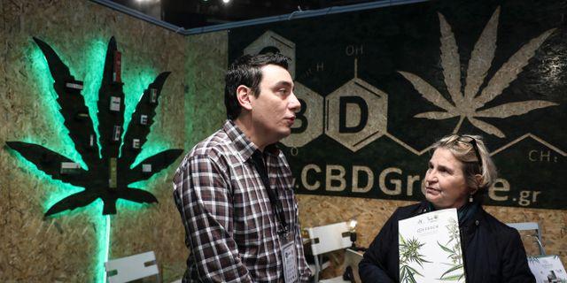 Arkivbild: I januari hölls den första internationella cannabismässan i Aten, Grekland.  Yorgos Karahalis / TT / NTB Scanpix