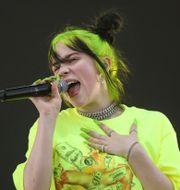 Billie Eilish var den första mottagaren av Apple Music Award för bästa världsartist. Jack Plunkett / TT NYHETSBYRÅN