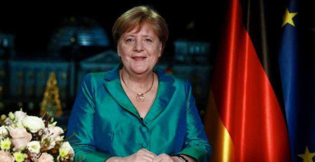 Angel Merkel under talet. Michele Tantussi / TT NYHETSBYRÅN