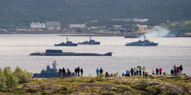 Bild från Severomorsk den 3 juli. STRINGER / TT NYHETSBYRÅN