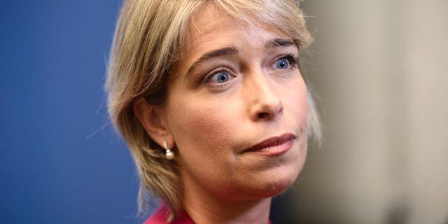 Annika Strandhäll (S). Stina Stjernkvist/TT / TT NYHETSBYRÅN