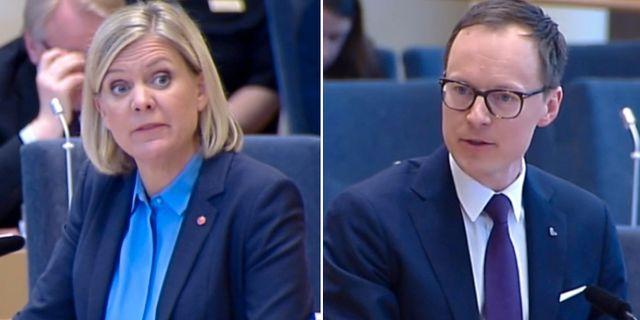 Magdalena Andersson och Mats Persson.  SVT