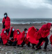 Arkivbild: Migranter från Marocko på en strand på Gran Canaria i januari Javier Bauluz / TT NYHETSBYRÅN