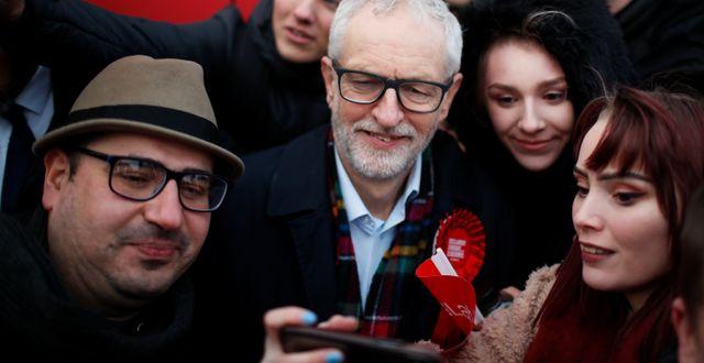 Jeremy Corbyn kampanjar i valet, arkivbild. GONZALO FUENTES / TT NYHETSBYRÅN