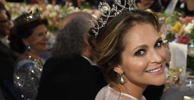 Prinsessan Madeleine på Nobelfesten 2016. Jonas Ekströmer/TT / TT NYHETSBYRÅN