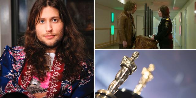 """Ludwig Göransson, bild ur filmen """"Gräns"""", Oscarsstatyett.  TT/Film i Väst"""