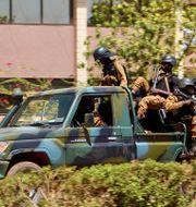 Omkring tio poliser dödades i Burkina Faso under måndagen enligt AFP. Arkivbild. Ludivine Laniepce / TT NYHETSBYRÅN