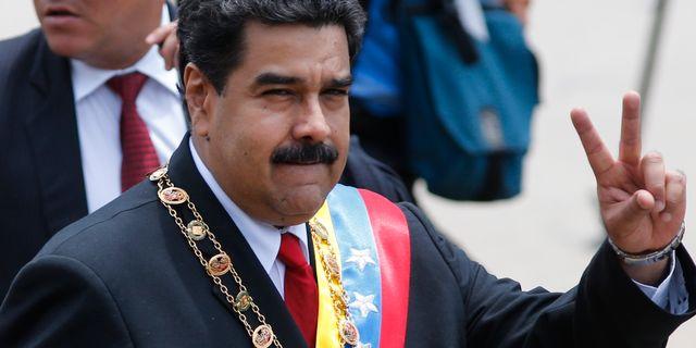 Venezuelas president Nicolás Maduro.  Ariana Cubillos / TT / NTB Scanpix