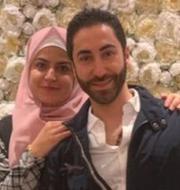 Esraa Yassin och Mohammad Ali Nemer/Strand i Ystad.  Privat/TT