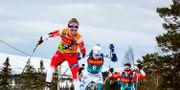 Norska Therese Johaug och svenska Ebba Andersson under tävling i Meråker i Norge i februari. Ulf Palm / TT / TT Nyhetsbyrån