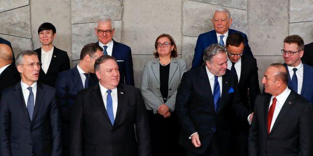 Bild från Nato-mötet YVES HERMAN / TT NYHETSBYRÅN