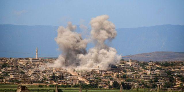 Arkivbild: Attack mot Idlib. Uncredited / TT NYHETSBYRÅN/ NTB Scanpix